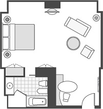 CLUB PREMIER ROOM FLOOR PLAN
