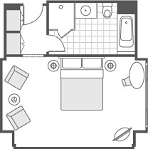 CLUB DELUXE ROOM FLOOR PLAN