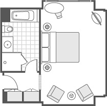 FLOOR PLAN DELUX ROOM