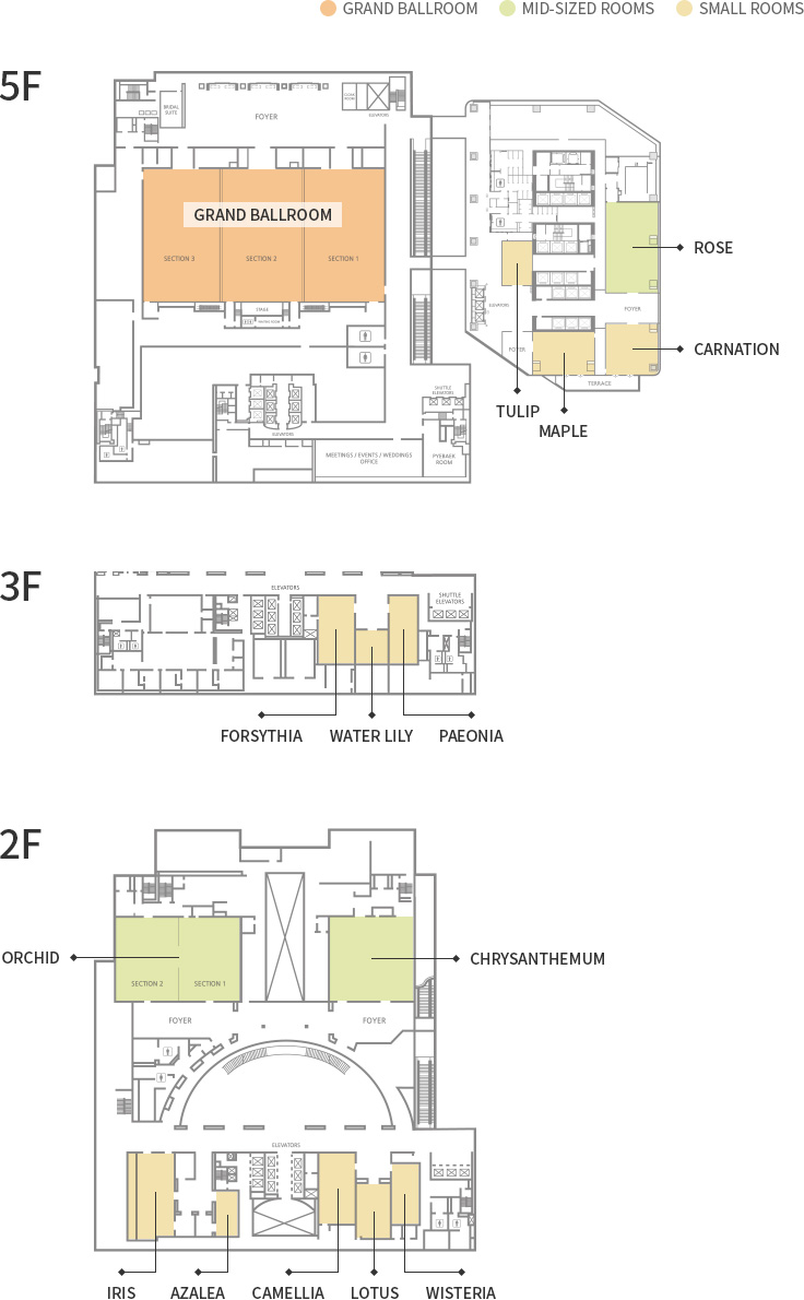 ALL MEETING ROOMS Floor Plan
