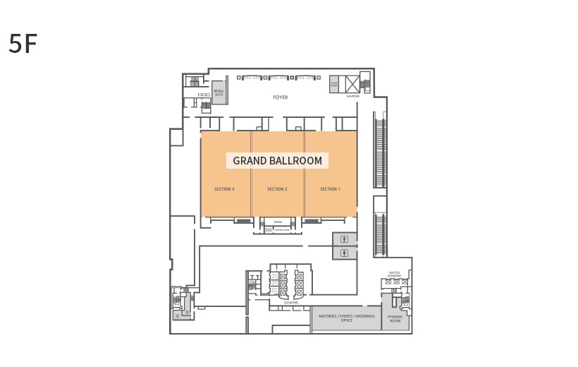 GRAND BALLROOM Floor Plan