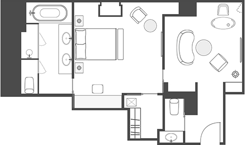 CORNER SUITE FLOOR PLAN