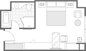 SUPERIOR ROOM FLOOR PLAN
