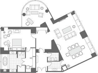 CLUB PRESIDENTIAL SUITE FLOOR PLAN