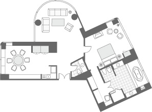CLUB AMBASSADOR SUITE FLOOR PLAN
